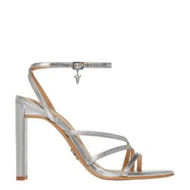 VENUS SILVER FOIL LEATHER HEEL